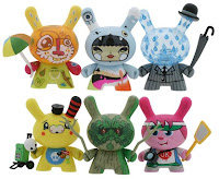Ye Olde English UK Dunny Series - Jon Burgerman, HiCalorie x Julie West, Triclops, Tado, Doktor A & Clutter Dunnys