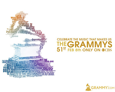 The 51st Annual Grammy Awards - Celebrate the Music that Makes Us Advertising Campaign Poster