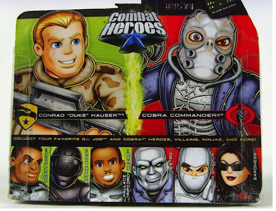 G.I. Joe: Rise of Cobra Combat Heroes Action Figures - Duke and Cobra Commander Back of Package