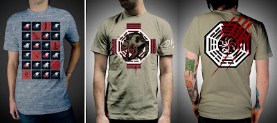 Damon, Carlton and a Polar Bear Limited Edition Lost T-Shirts - Hiero by Marky of Glamour Kills & Skull by Dr. Romanelli