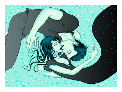 Damon, Carlton and a Polar Bear Lost Season 6 Screen Print #6 - Jin & Sun by Tara McPherson
