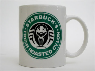 Starbuck's Roasted Cylon Mug by Ctrl+Alt+Del