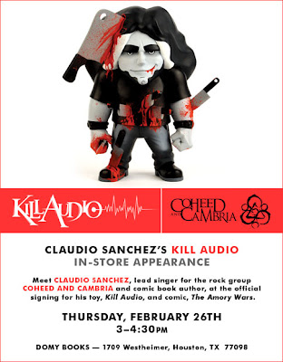 Kill Audio and The Amory Wars - Coheed and Cambria's Claudio Sanchez's In-Store Appearance at Domy Books Announcement