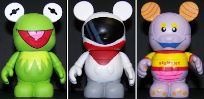 Disney's Vinylmation Park Series 1 3 Inch Mickey Mouse Figures - Kermit, Monorail & Figment