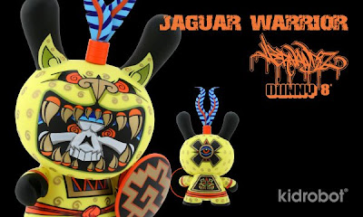 Kidrobot - 8 Inch Jaguar Warrior Dunny by Jesse Hernandez Banner