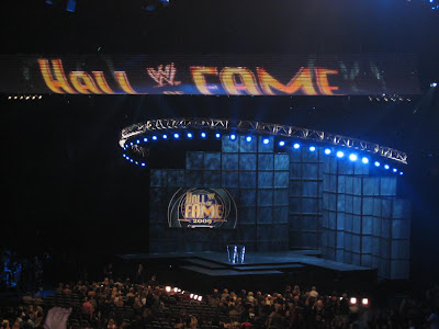 The 2009 WWE Hall of Fame Induction Ceremony Stage Before The Event Began