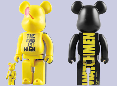 Watchmen The End Is Nigh 100% and 400% Bearbrick Set (front & back)