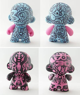 Baroness&#8217; 30 Customs x 30 Friends Charity Auction - Jon Burgerman and FILTH Custom Munnys