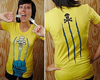Johnny Cupcakes x X-Men Origins: Wolverine Weapon XJC Girls T-Shirt Front & Back