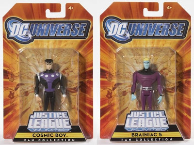 MattyCollector.com Exclusive JLU Legion of Super Heroes 4 Pack - Cosmic Boy and Brainiac 5 Action Figures