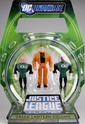Justice League Unlimited San Diego Comic Con 2009 Exclusive Green Lantern Origins 3 Pack - Abin Sur, Hal Jordan & Sinestro