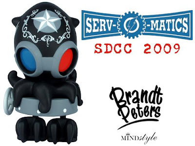 MINDstyle - San Diego Comic Con 2009 Exclusive Junior Serv-O-Matics Vinyl Figure by Brandt Peters