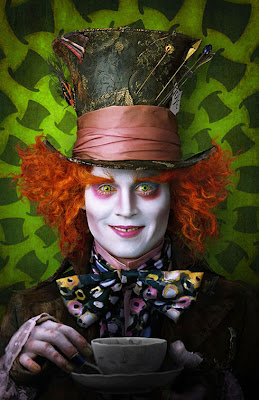 Tim Burton's Alice In Wonderland Promotional Photos - Johnny Depp as The Mad Hatter