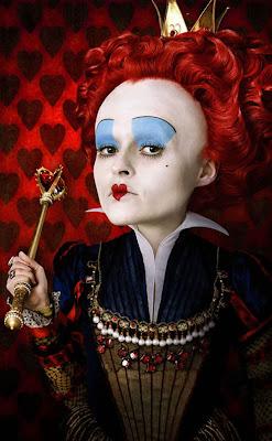 Tim Burton's Alice In Wonderland Promotional Photos - Helena Bonham Carter as The Red Queen