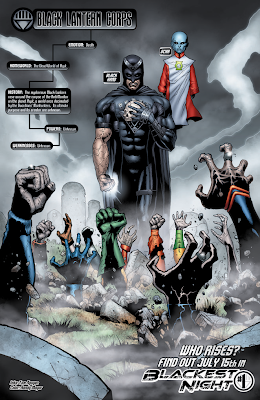 Blackest Night Issue #0 Interior Artwork - The Rise of the Black Lanterns