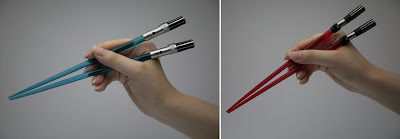 Chop Sabers - Luke Skywalker Blue and Darth Vader Red Star Wars Lightsaber Chopsticks