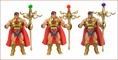 San Diego Comic Con 2009 Exclusive Masters of the Universe He-Ro Action Figure with a Green, Red and Purple Spell Stones