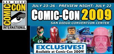 San Diego Comic Con 2009 Official Exclusives List
