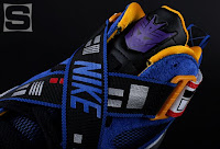 The Nike x Transformers Sneaker Set - The Soundwave Zoom Sharkalaid Sneaker Close-Up