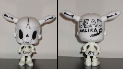 Muttpop - Puro Tcho! Malika Vinyl Figure doodled on by Ohm