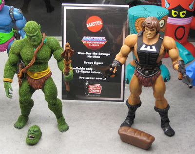 MattyCollector.com Exclusive Masters of the Universe Action Figures - Moss Man and the Club Eternia Exclusive Wun-Dar the Savage He-Man