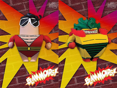 Blammoids! Series 2 by DC Direct - Plastic Man and The Creeper Vinyl Figures