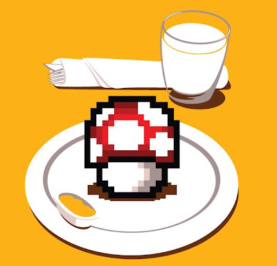 Threadless - Nutritious Breakfast Super Mario Bros. Themed T-Shirt by Chow Hon Lam
