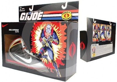 Nike x G.I. Joe Cobra Sneaker Set - Destro Hyperize Supreme Sneakers and Packaging