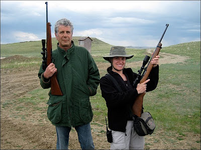 Anthony Bourdain: No Reservations in Montana - Tony and producer Diane Schutz go hunting in Montana