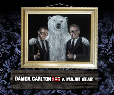 Damon, Carlton and a Polar Bear Official Logo
