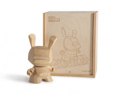 Kidrobot - Wood Dunny Chiseler and Packaging by David Weeks