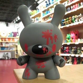 Kidrobot - Grey Chase Gloomy Bear 8 Inch Dunny by Mori Chack