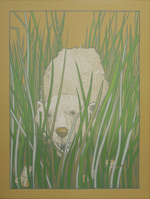 Damon, Carlton and A Polar Bear Limited Edition Lost Screen Prints - The Polar Bear by Jay Ryan