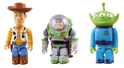 Medicom x Disney Toy Story 3 Kubrick Series - Woody and Buzz Lightyear & Alien Kubricks