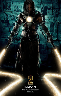 Iron Man 2 Theatrical One Sheet Teaser Movie Poster featuring Mickey Rourke as Whiplash