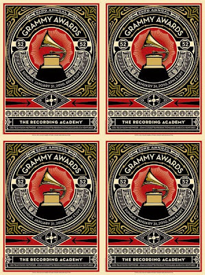 The 52nd Annual Grammy Awards Official Artwork by Shepard Fairey of OBEY Giant