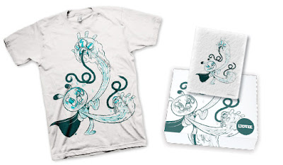 LTD Tee - Mutiny of the Flesh T-Shirt & Art Print Box Set by JR Goldberg
