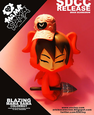 San Diego Comic-Con 2010 Exclusive Blazing Mama Sama Resin Figure by Erick Scarecrow