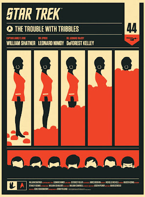 "Star Trek ""The Trouble With Tribbles"" Uhura Edition Screen Print by Olly Moss"