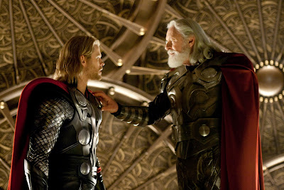 Thor Motion Picture Official Photo - Chris Hemsworth as Thor & Anthony Hopkins as Odin