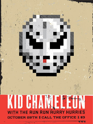 San Diego Comic-Con 2010 Exclusive Scott Pilgrim Screen Print Series - Kid Chameleon by Aesthetic Apparatus