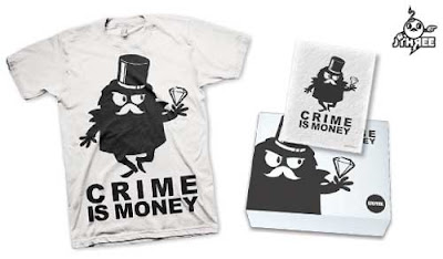 LTD Tee - Crime is Money T-Shirt & Art Print Box Set by J3Concepts