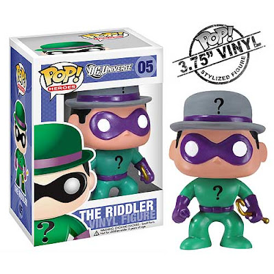 DC Universe Batman Mini Funko Force Vinyl Figures by Funko - The Riddler and Packaging