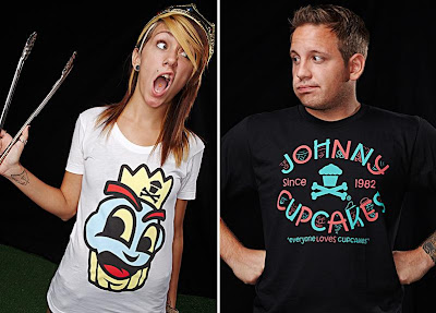 Johnny Cupcakes - Cupcake Crown T-Shirt & Faces T-Shirt