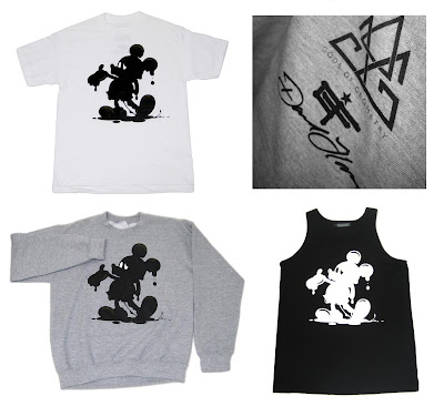 Gods of Geometry x David Flores Oil Mickey Clothing - T-Shirts, Crews & Tank Tops