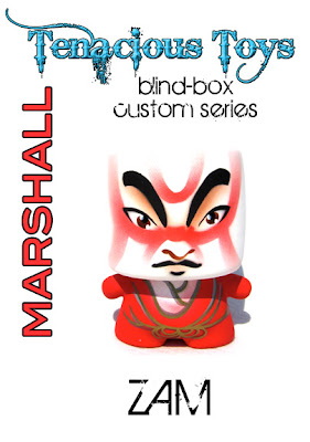 Tenacious Toys Marshall Blind Box Custom Series - Kabuki Custom Marshall Vinyl Figure by ZAM