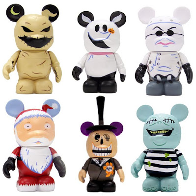 Disney Vinylmation Tim Burton's The Nightmare Before Christmas Series - Oogie Boogie, Zero, Dr. Finkelstein, Santa Claus, Mayor of Halloween Town & Corpse Kid