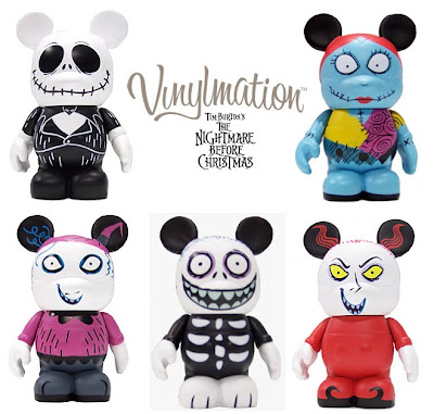 Disney Vinylmation Tim Burton's The Nightmare Before Christmas Series - Jack Skellington, Sally, Lock, Shock & Barrel