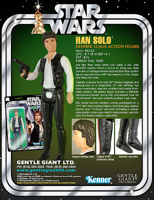 Han Solo 12&#8221; Jumbo Vintage Kenner Star Wars Action Figure by Gentle Giant