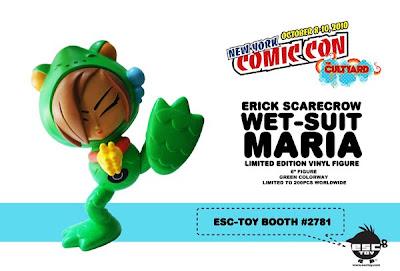 New York Comic-Con 2010 Exclusive Wet-Suit Maria Green Colorway 6 Inch Resin Figure by Erick Scarecrow